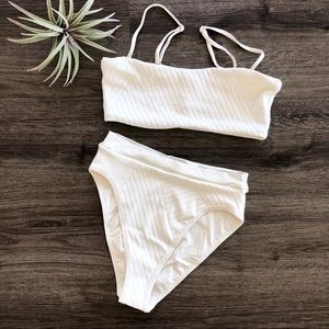L*Space Textured Bikini Rebel Top Frenchi Bottom